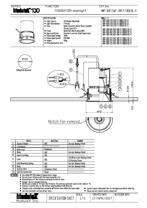 MMP-100F/30B Specification Sheet